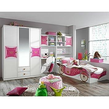 Kinderzimmer Zoe3 4 Tlg Jugendzimmer Kleiderschrank Schreibtisch