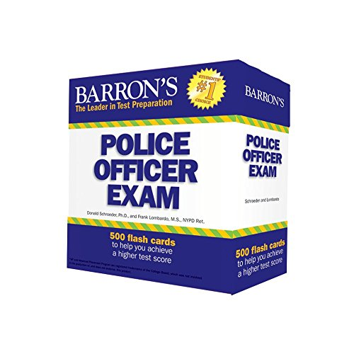 Pdf Test Preparation Barron's Police Officer Exam Flash Cards
