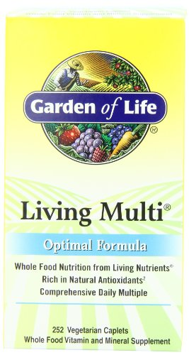 Garden of Life Living Multi Optimal Formula, Caplets, 252-Count Bottle