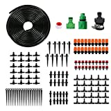 Drip Irrigation,Blank Distribution Tubing Hose 1/4'',Garden Irrigation System,DIY Plant Watering System,Saving Water Irrigation Drip Kit Accessories,Automatic Irrigation Equipment Set for Garden(Black)