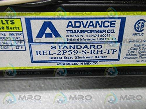 REL-2P59-S-RH-TP Instant Start Electronic Ballast 120V Advance Transformer Co