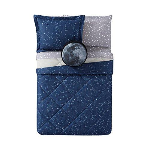 Laura Hart Kids Night Sky Printed 2-Piece Comforter Set, Twin X-Large, Midnight Blue Night Sky (Twin Printed Set)