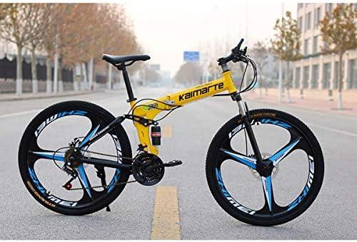 GOHHK Bicicleta montaña para Adultos Doble suspensión Completa ...