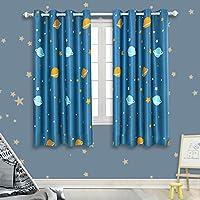 Room Darkening Kids Curtains for Bedroom –Cute Planet...