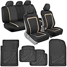 BDK Advanced Performance Car Seat Covers & Heavy Duty Rubber Floor Mats Combo (w/ Adv Performance Mats)