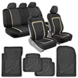 sport style car mats - BDK Advanced Performance Car Seat Covers & Heavy Duty Rubber Floor Mats Combo (w/ Adv Performance Mats)