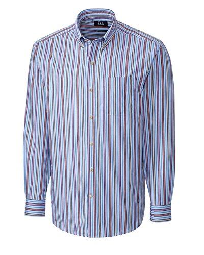Cutter & Buck Men's Long Sleeve Philip Stripe Woven Shirt, Multi, Medium - Multi Stripe Woven Shirt
