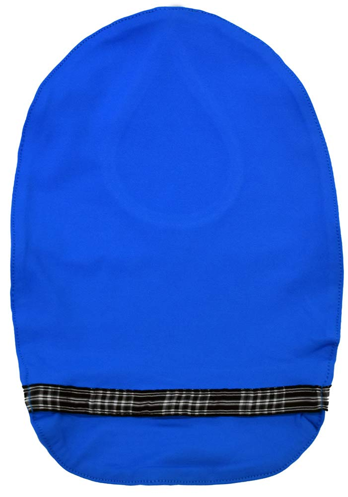 Stretchy Deodorizing Ostomy Pouch Cover (Blue - Checkerd, XL)