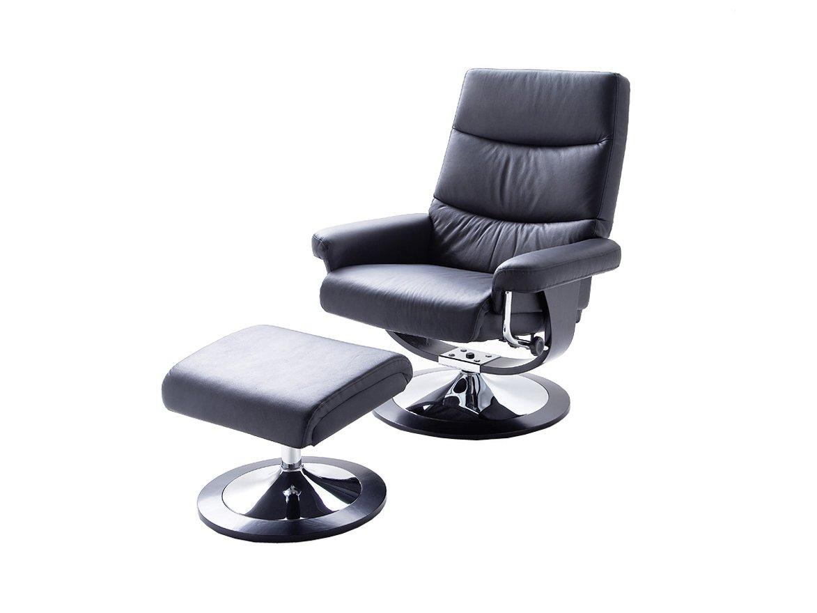 Relax Sessel Cedar mit Hocker von Confortevoli Fernsehsessel Schwarz