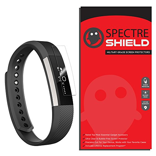 [7-PACK] Fitbit Alta Screen Protector by Spectre Shield Full Coverage Invisible HD Clear Anti-Bubble Anti-Scratch - Spectre Glasses