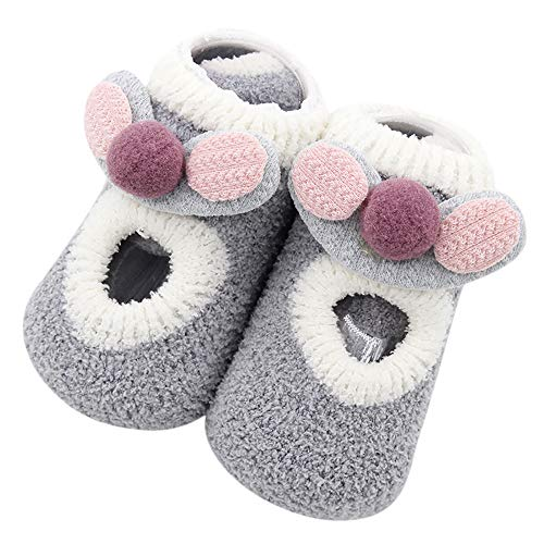 VEKDONE Baby Girls Non Skid Anti Slip Socks Toddler Crew Socks Cute Cartoon Socks from VEKDONE Shoes