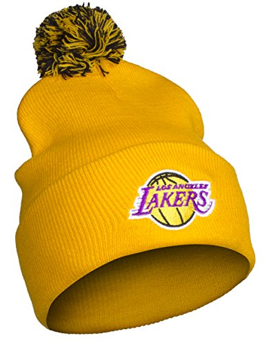 NBA Los Angeles LA Lakers Cuff Pom Pom Beanie Knit Hat Cap by NBA