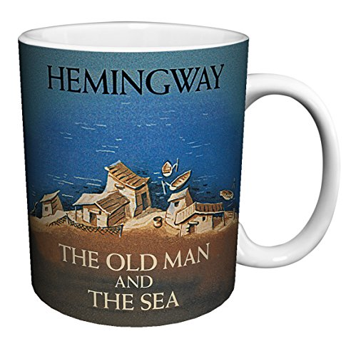 Ernest Hemingway Old Man and the Sea Classic Literature Literary Vintage Book Cover Art Decorative Ceramic Gift Coffee (Tea, Cocoa) 11 Oz. Mug (The Old Man And The Sea Style)