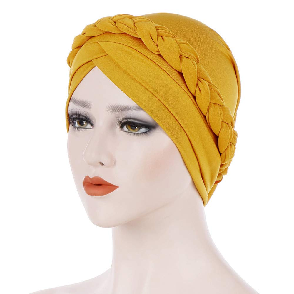 ea47efe2f2f Teresamoon Women India Hat Muslim Solid One Tail Chemo Beanie Scarf Turban  Warm Wrap Cap  Beauty