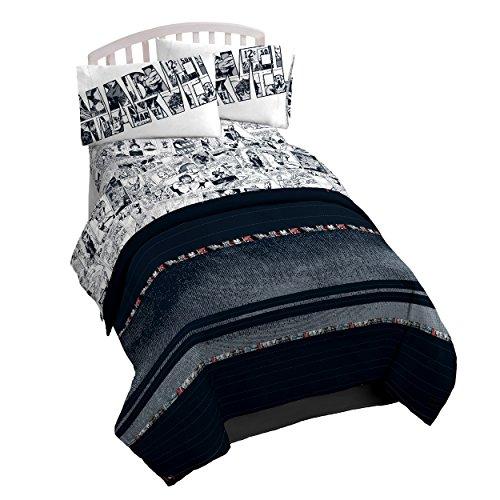 Stripe Twin Bedding - Marvel Avengers 'Lifestyle Stripe' Microfiber Reversible Comforter, Twin/Full