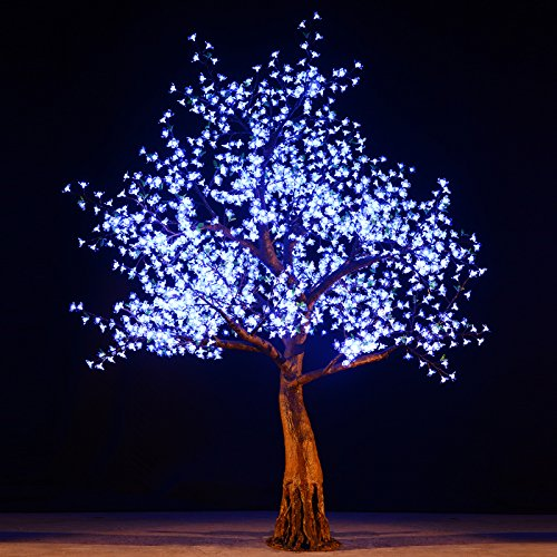 bright baum led light cherry artificial tree 9 feet cool