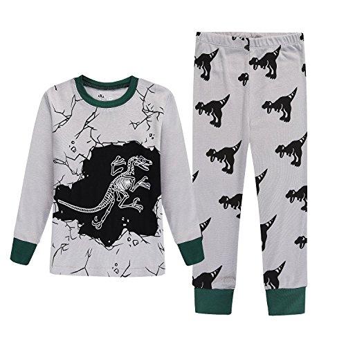 KONGKA Girls Boys Pajamas Set, 2-Piece 100% Breathable Cotton Toddler Pjs Clothes, Kids (Unique Kids Pajamas)