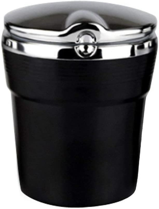 Sturmaschenbecher Tragbare Auto Rauchfreien Stand Zylinder Cup Holder Zigarette Aschenbecher Mit Blauer Led Licht Baumarkt
