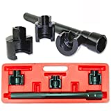Domeiki Inner Tie Rod Removal Set 4pc Mechanics Installation Tool Dual Socket Adaptor
