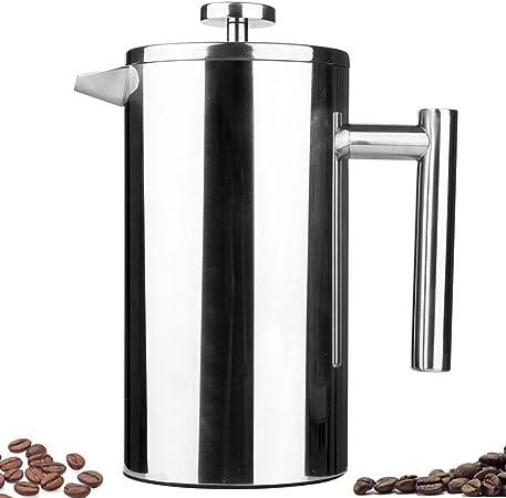 FYHKF Cafeteras de émbolo Cafetera Francesa de presión. Capa Doble. Espesar Acero Inoxidable 304. Cafetera Manual. Tetera portátil. (Tamaño : 9 * 19.5cm(800ml)): Amazon.es: Hogar