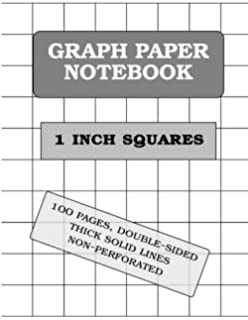 graph paper notebook squared graphing paper blank quad ruled large 8 5 x 11 softback composition books