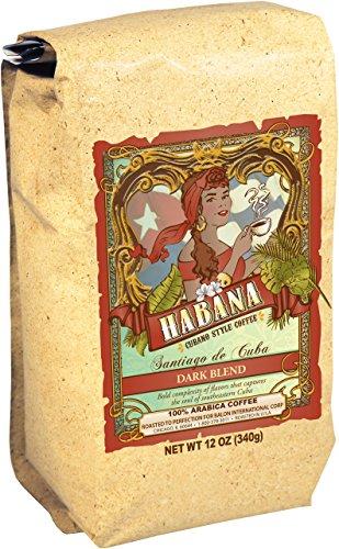 Habana Coffee, Ground, Santiago de Cuba Dark Artisanal Blend, 12 Ounce Bag