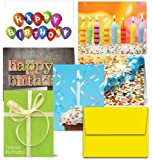 It's Your Birthday - 36 Birthday Cards for $9.99- 6 Designs - Blank Cards - Yellow Envelopes Included