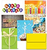 Office Products : It's Your Birthday - 36 Birthday Cards- 6 Designs - Blank Cards - Yellow Envelopes Included