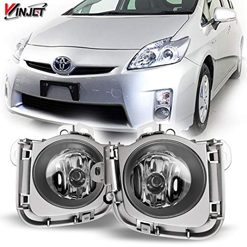 - Winjet WJ30-0293-09 OEM Series for [2010-2011 Toyota Prius] Clear Lens Driving Fog Lights + Switch + Wiring Kit