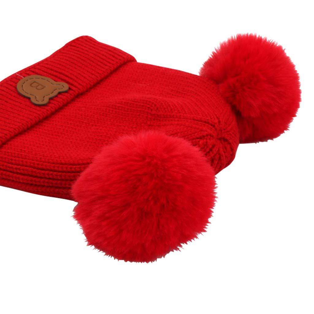 Gogokids Baby Boys Girls Bobble Beanie Hat Warm Winter Pompom Skull Cap