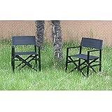 BHG Del Mar Director Chair in White Aluminum Frame/Mesh (2 Pack), White
