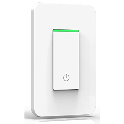 Smart WiFi Light Switch, Joso Alexa Wireless Light Switch Remote Control  Timing Function No Hub Required, Compatible with APP, Google Home Assistant  &
