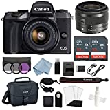 Canon EOS M5 Digital Camera (Black) with EF-M 15–45mm f/3.5–6.3 is STM Lens + Advanced Accessory Bundle – Includes Everything You Need to Get Started Review