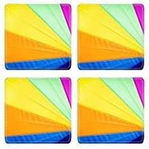 Liili Square Coasters Rainbow umbrella background 28301079