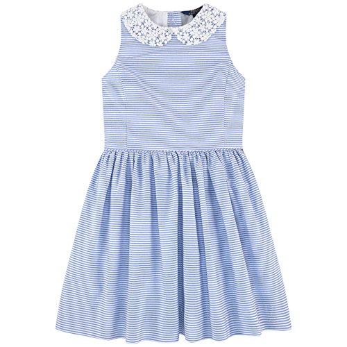 Ralph Lauren Girls Seersucker - Ralph Lauren Polo Girls Sleeveless Lace Collar Seersucker Dres (3 3T)