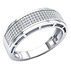 10K Gold White Diamond Wedding Band