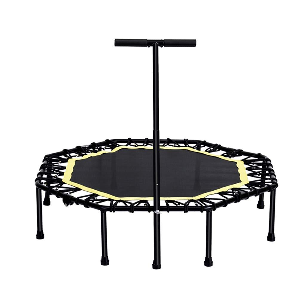 45 Zoll Trampoline mit justierbarem Handlauf-Griff-Stab, beweglicher Spaß-Eignungs-Ausrüstungs-Trampoline für Kinder Erwachsene Laden 330lbs