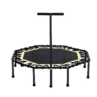 Trampolino da 45 Pollici con Manubrio Regolabile per Manubrio, trampolini Portatili per Attrezzature per Il Fitness per Bambini. Carico di 330 libbre