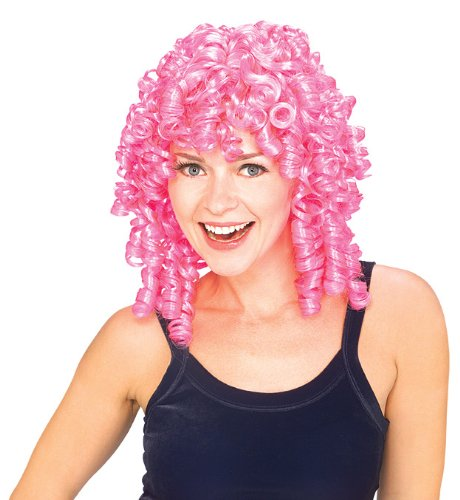 Rubie's Curly Top Wig, Pink, One