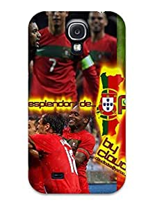 Durable Portugal Portuguese Nani Cristiano Ronaldo Country Countries Worlds Worldmap European Asia People Sports Back Case/cover For Galaxy S4