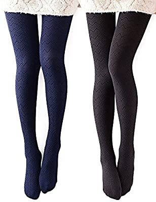 Vero Monte Women's Modal & Cotton Opaque Knitted Patterned Tights