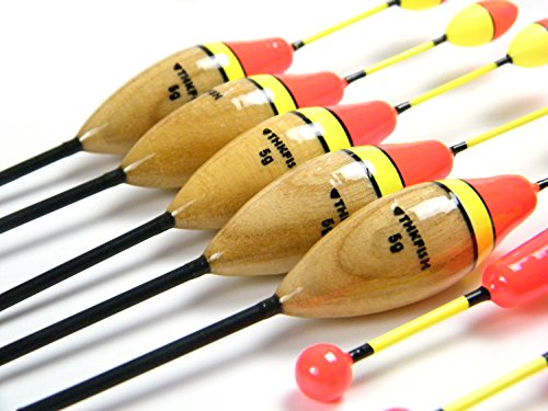 Qualyqualy fishing floats wood paulownia balsa fishing for Fishing bobbers bulk