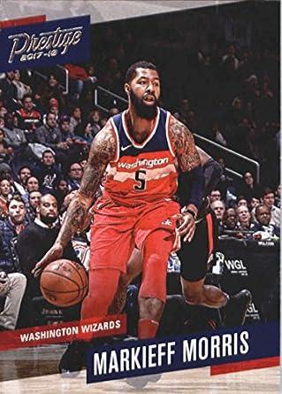 2017-18 Panini Prizm Green Prizms #135 Markieff Morris Washington Wizards Card Basketbal