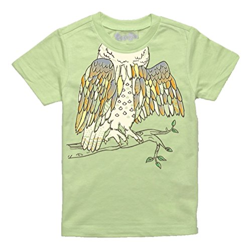 (Peek-A-Zoo Infant Baby Become an Animal Short Sleeve T Shirt - Owl Lime Green (18/24 Months) )