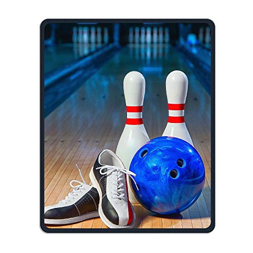 Gaming Comfortable Mouse Pad Bowling Shoes Stitched Edges Non-Slip Rubber Base Mousepad 9.84×11.81×0.12 Inches