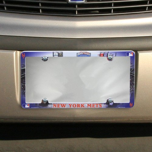 (Wincraft MLB New York Mets Stadium Plastic License Plate Frame)