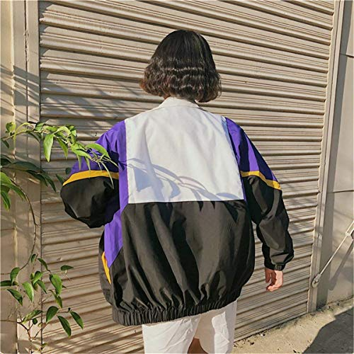 Giacca Coat Primaverile Giacche Leggero Donna Casual Autunno Stile Relaxed Chic Zip Lila Lunghe Ragazze Eleganti Moda Colori Misti Maniche Sportivo Ragazza Outwear College 4dwAwHq