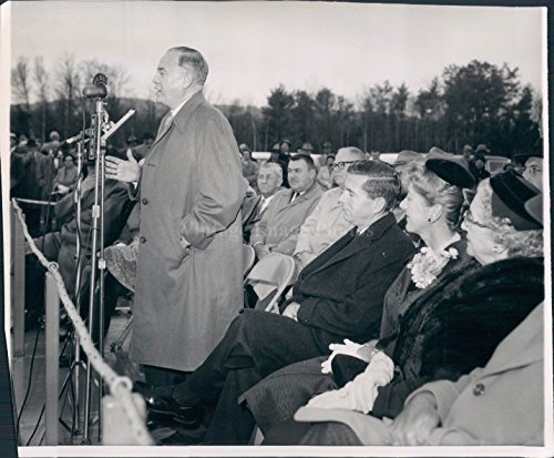 1959 Photo Senator Styles Bridges Politics Dedication Concord NH Thanwald ()