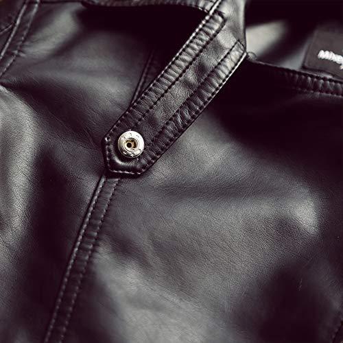 Motociclista Jacket Black Abbigliamento Zipper Donna Pelle Inverno Autunno Moto Cappotto OZqEWw