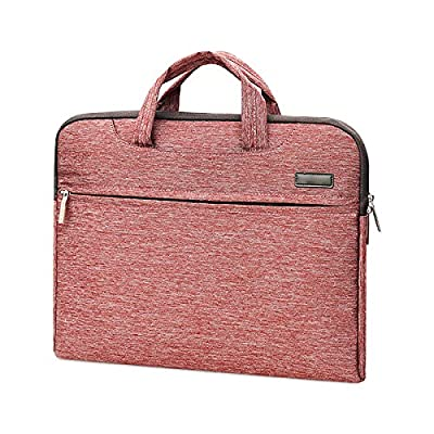Jia Hu 1Pc Canvas Business Laptop Briefcase Tote Portfolio Messenger Bag Tablet Document Organizer